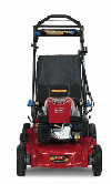 a red lawnmower